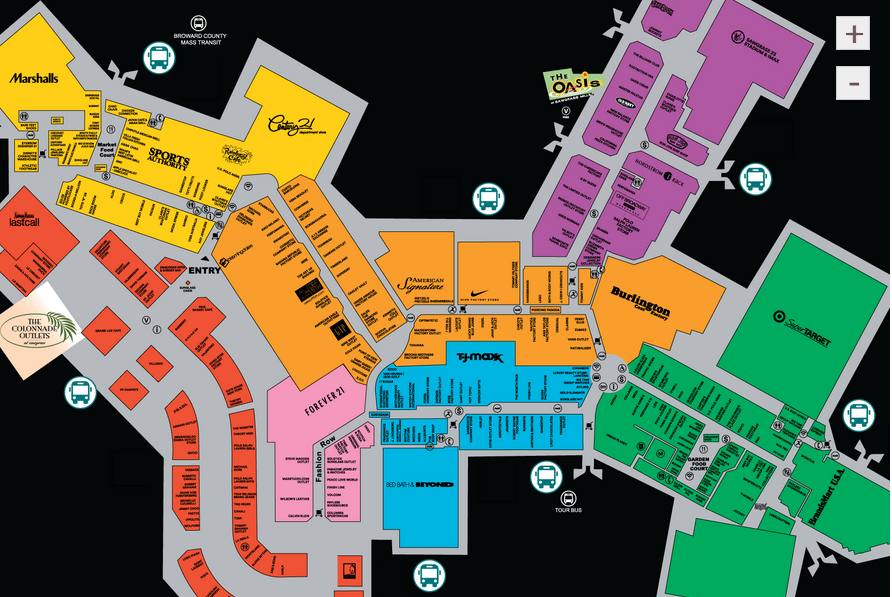 Sawgrass Mills Mall Map